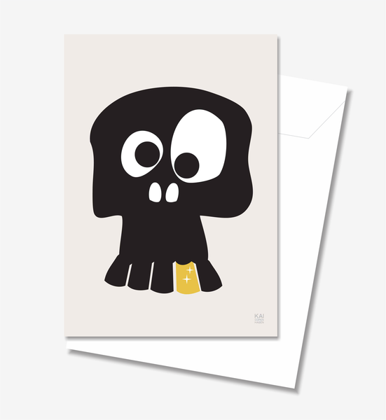 Skull  - Greeting Card A5