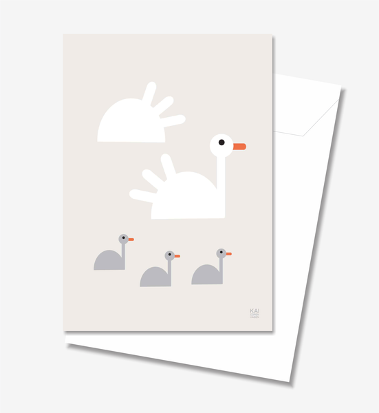 Swan  - Greeting Card A5