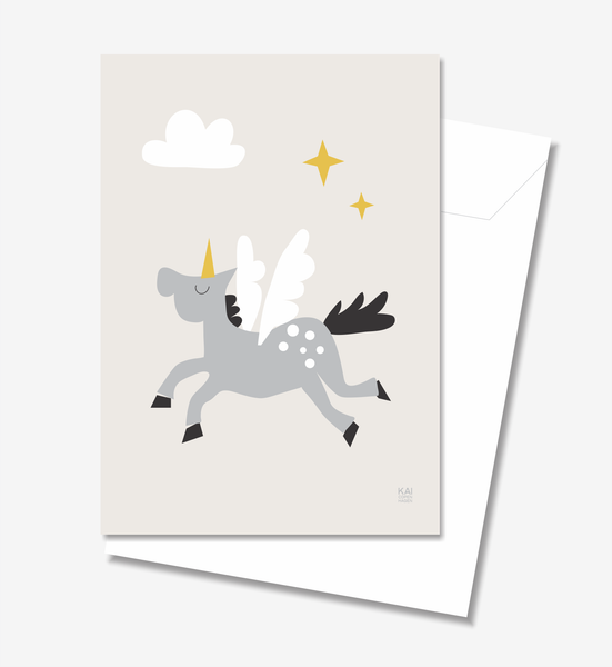 Unicorn  - Greeting Card A5