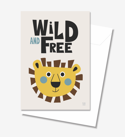 Wild and Free  - Greeting Card A5