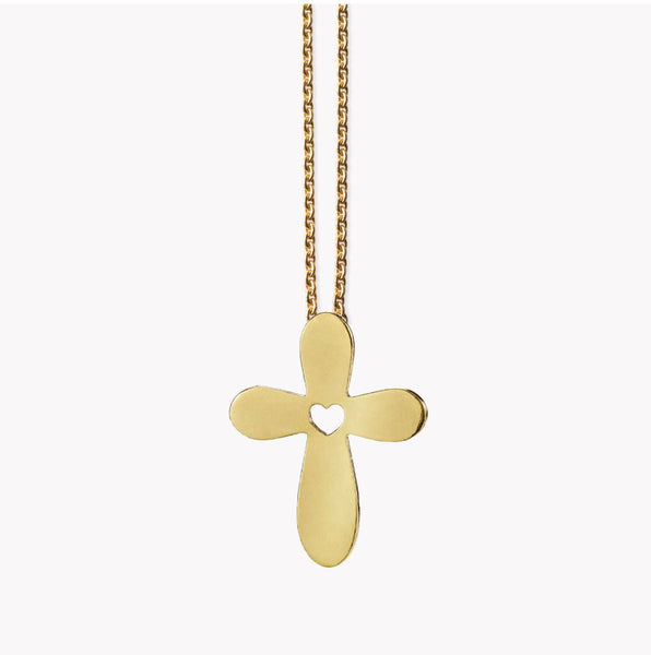 Cross Pendant - Gold-plated silver.
