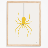 Yellow Spider poster by Josephine Blay