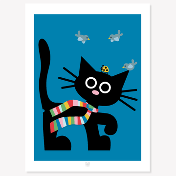 KAI Cat poster/blue