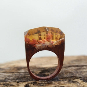 Miniature Landscapes Worlds Inside Ring Resin