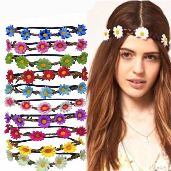Boho Daisy Hair Bands for Women - Wreath Headbands