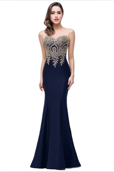 Long Formal Mermaid Evening Dress