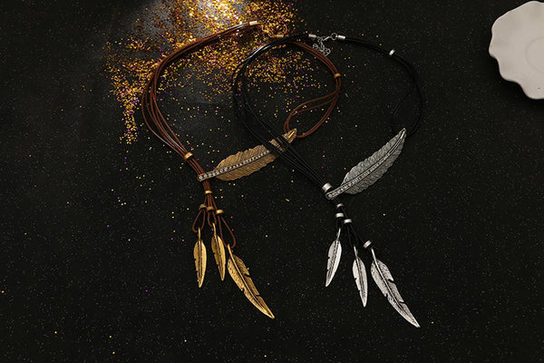 FREE Rope Chain Feather Necklace