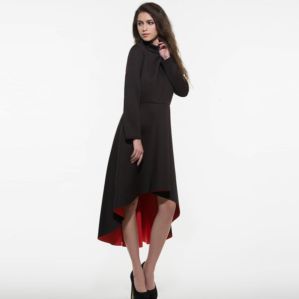 Black Maxi Dress Long - Very fashionable Black and Red