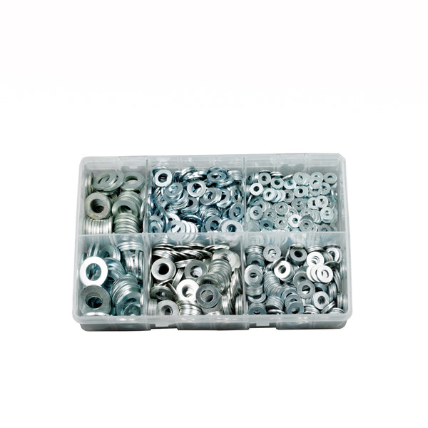 ASSORTED FORM A FLAT WASHERS. M5 -M16