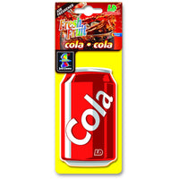 Cola hanging car air freshener.