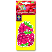 Raspberry Fresh Fruit, hanging car air freshener.