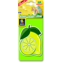 Lemon Fresh Fruit, hanging car air freshener.