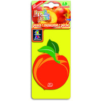 Peach Fresh Fruit, hanging car air freshener.