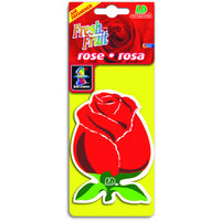 Rose Fresh Fruit, hanging car air freshener.