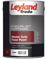 Leyland Trade Heavy duty Frigate grey Satin Floor paint 5L