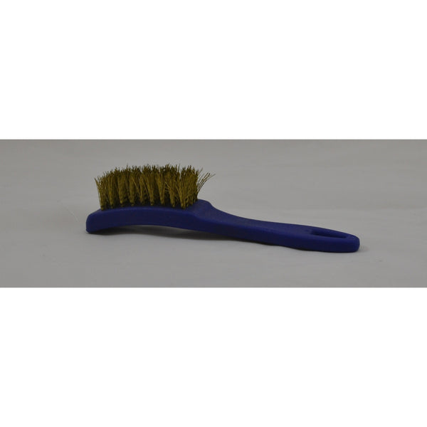 SMALL WIRE BRUSH WITH PLASTIC HANDLE