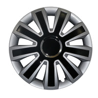 BLACK, CHROME AND SILVER WHEEL TRIM