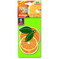 Orange Fresh Fruit, hanging car air freshener.