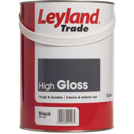 LEYLAND TRADE HIGH GLOSS BLACK 5LTR