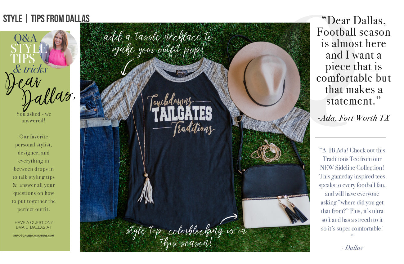 Dear Dallas August Gameday Couture