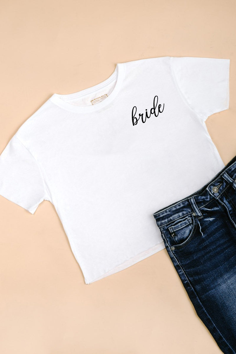 "The ""Bride"" Crop Top - Gameday Couture"