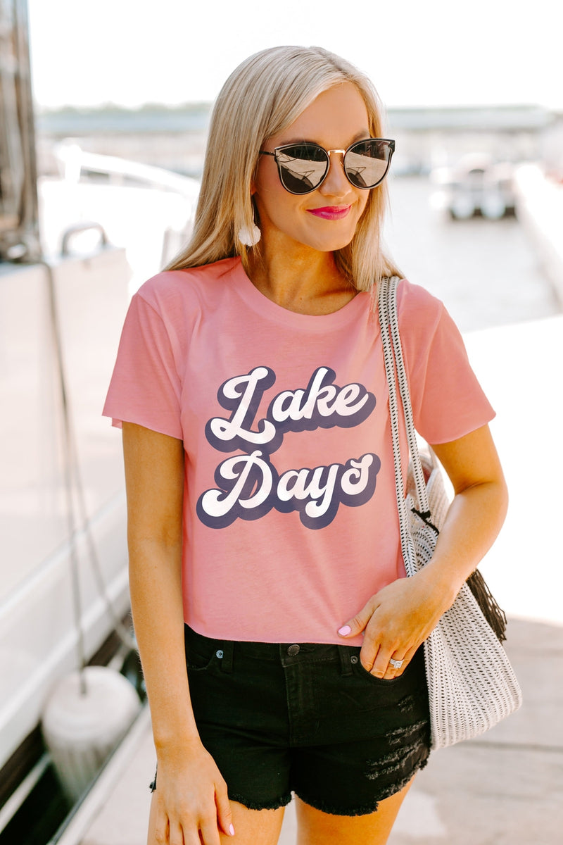 "The ""Lake Days'"" Crop Top"
