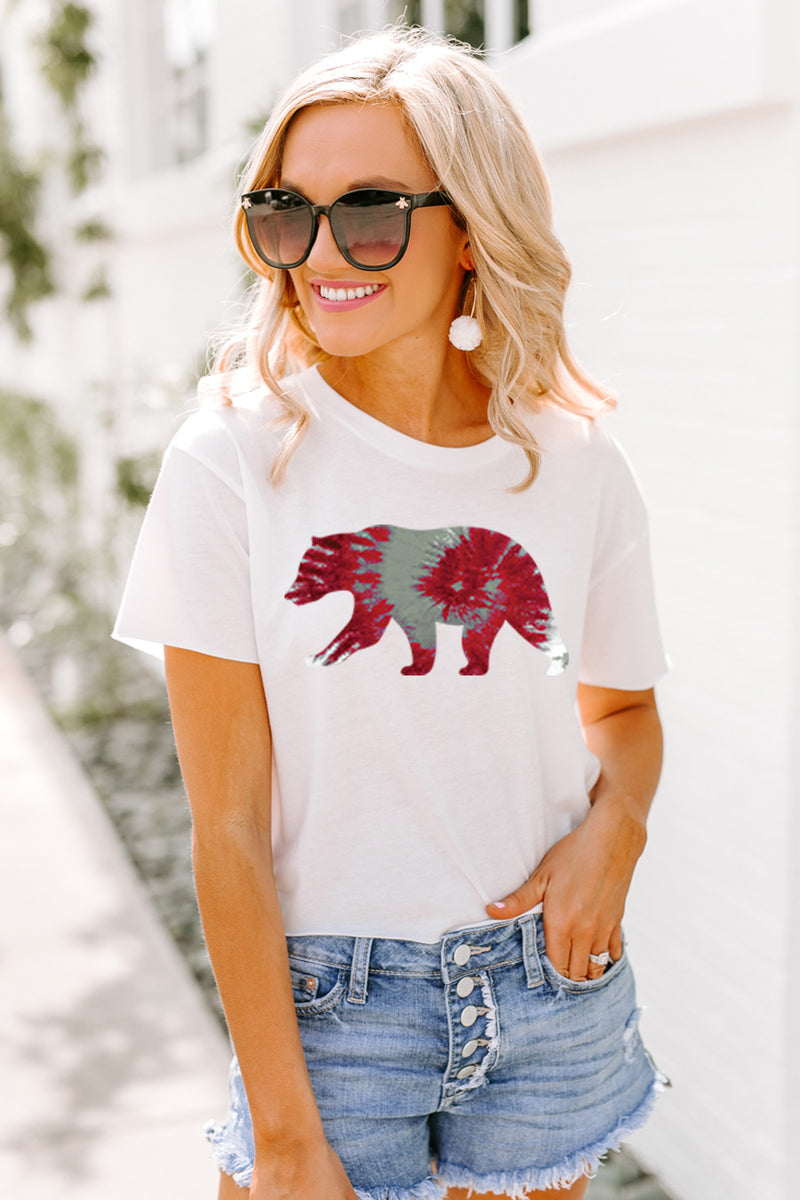 "The Bears ""Tied and True"" Cotton Blend Crop Tee - Gameday Couture"