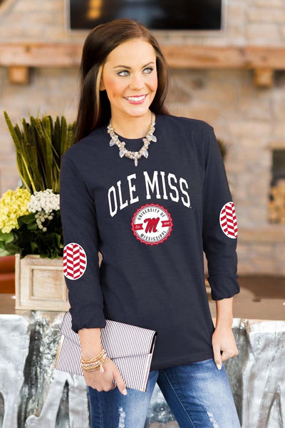 "Ole Miss Rebels ""Patch It Up"" Elbow Patch Tee"