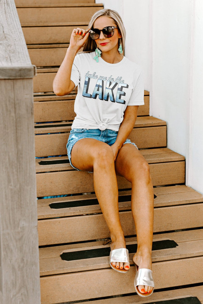 "The ""Take Me To The Lake"" Boyfriend Tee - Gameday Couture"
