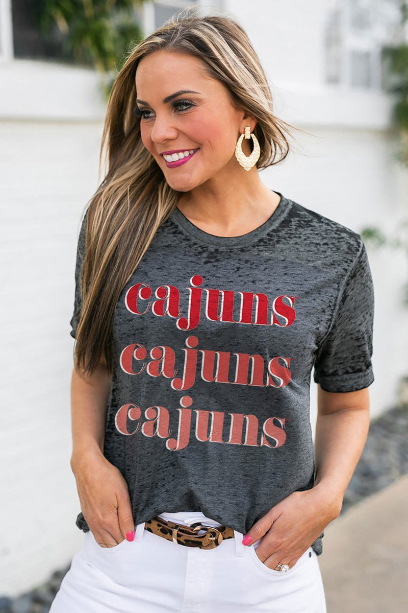 "LOUISIANA LAFAYETTE RAGIN' CAJUNS ""BETTER THAN BASIC"" BOYFRIEND TEE - Gameday Couture"