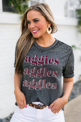 "Texas A&M Aggies ""Better Than Basic"" Boyfriend Tee"