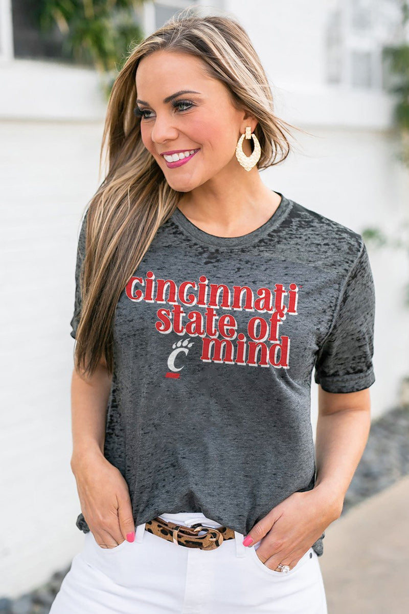"CINCINNATI BEARCATS ""BETTER THAN BASIC"" BOYFRIEND TEE - Gameday Couture"