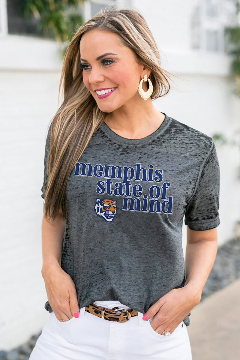 "MEMPHIS TIGERS ""BETTER THAN BASIC"" BOYFRIEND TEE - Gameday Couture"
