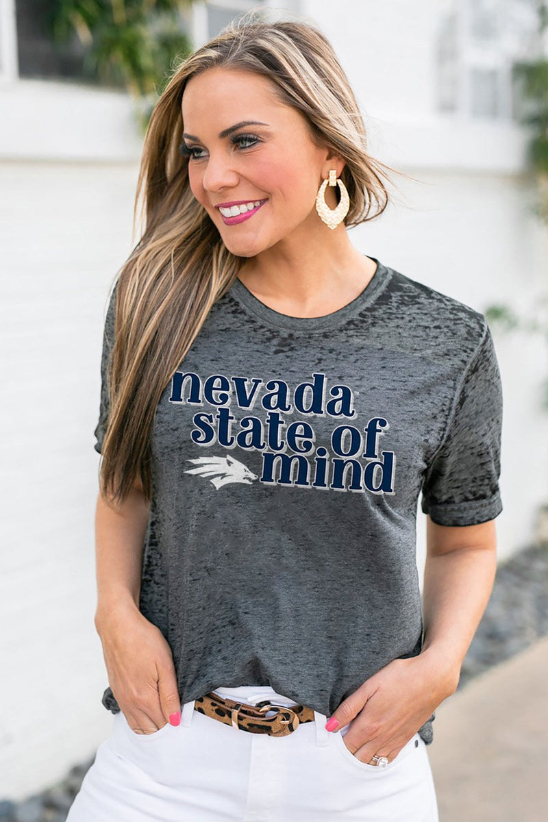 "NEVADA WOLF PACK ""BETTER THAN BASIC"" BOYFRIEND TEE - Gameday Couture"