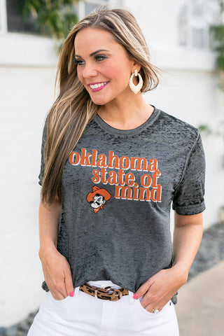 "Oklahoma State Cowboys ""Better Than Basic"" Boyfriend Tee"