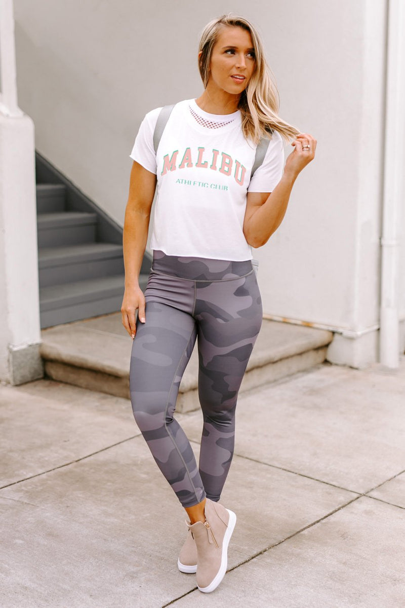 "The ""Malibu Athletic Club"" Cropped Top"