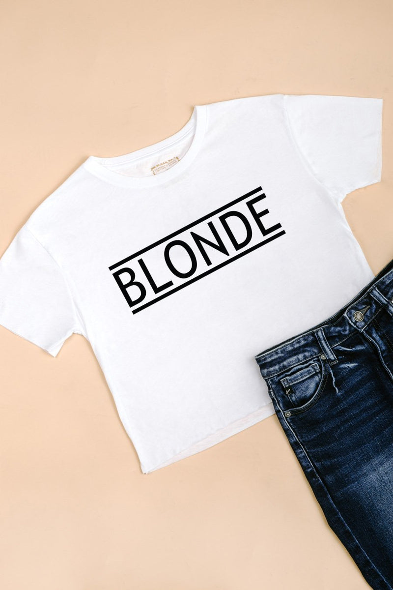 "The ""Blonde"" Crop Top"
