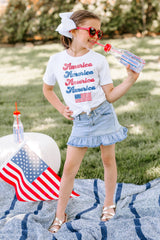 "The ""Proud To Be An American"" Kids Tee - Gameday Couture"