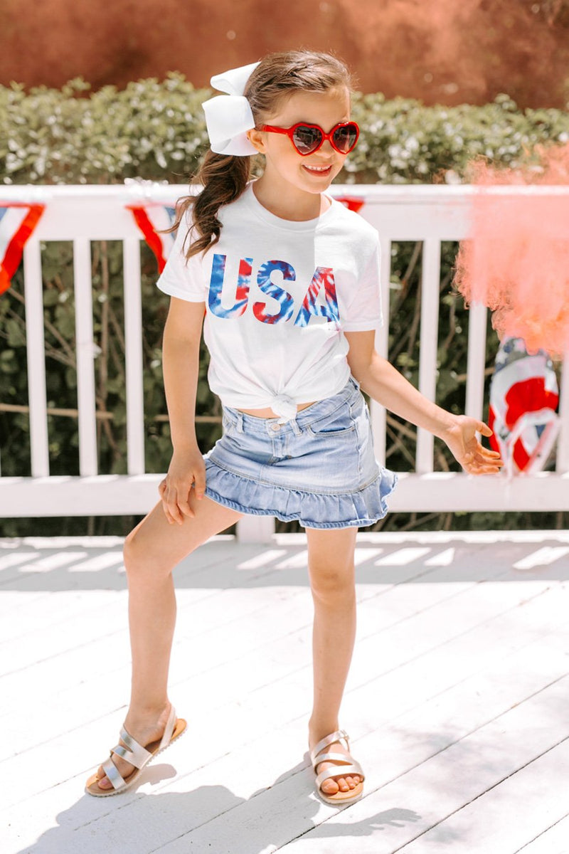 "The ""USA"" Kids Tie Dye Tee - Gameday Couture"