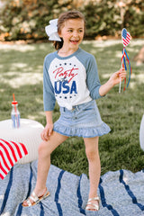 "The ""Party In The USA"" Kids Tee - Gameday Couture"