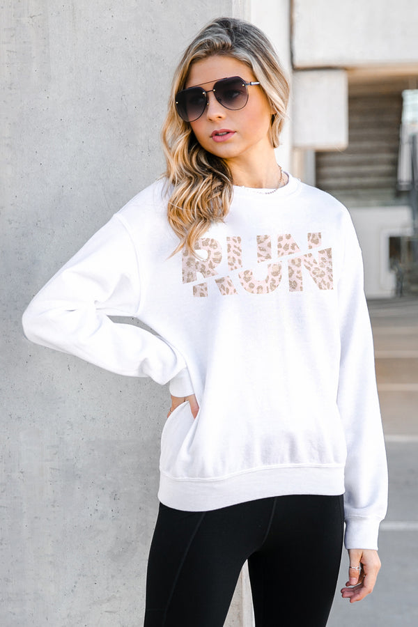 "The ""Keep Calm And Go For A Run"" Perfect Crew Sweatshirt - Gameday Couture"