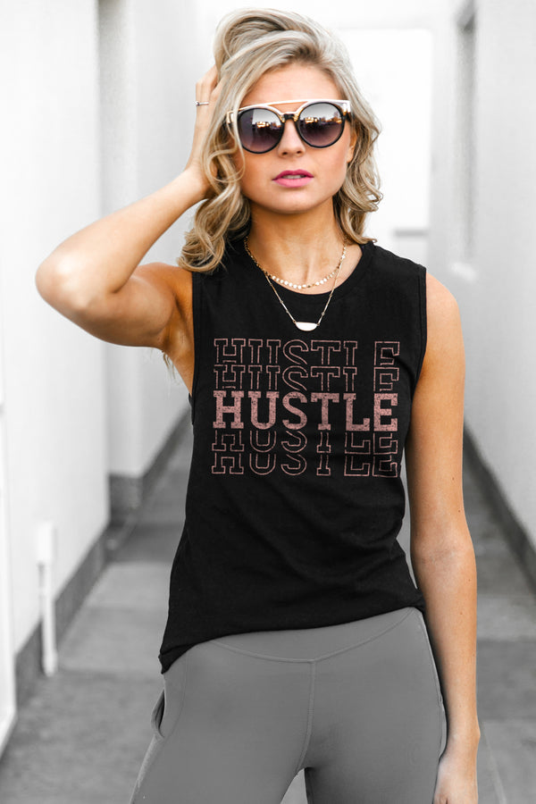 "The ""Hustle For The Muscle"" Jersey Muscle Tank - Gameday Couture"