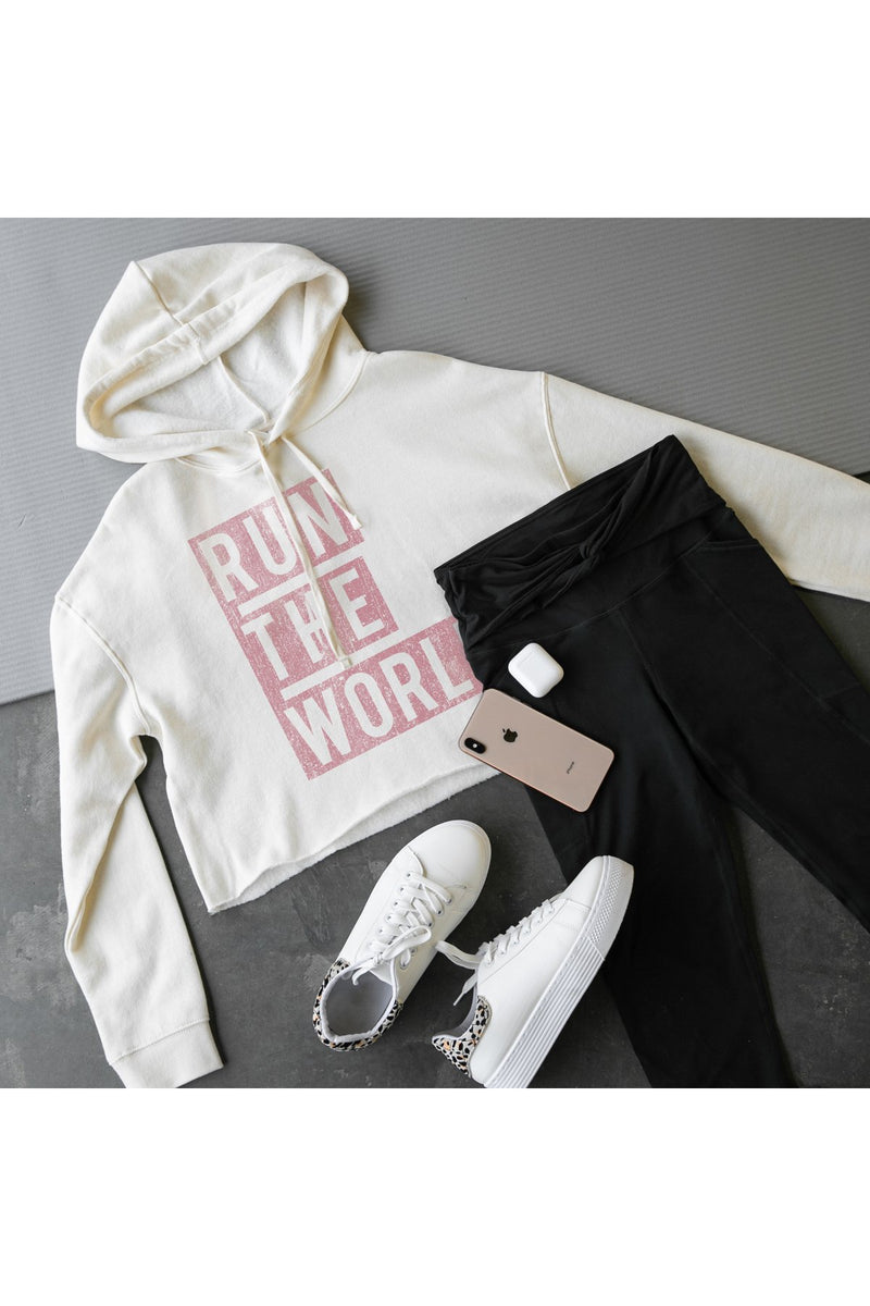 "The ""Run The World"" Cropped Hooded Sweatshirt - Gameday Couture"