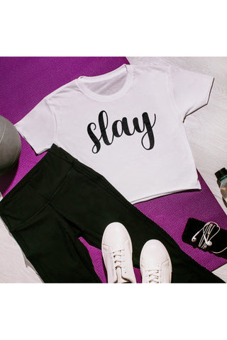 "The ""Slay"" Cropped Top"