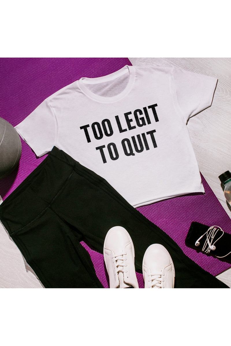 "The ""Too Legit To Quit"" Cropped Top - Gameday Couture"