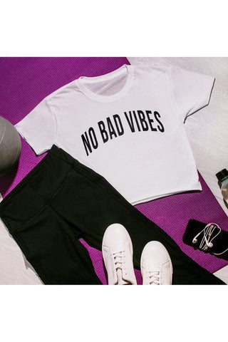 "The ""No Bad Vibes"" Cropped Top"