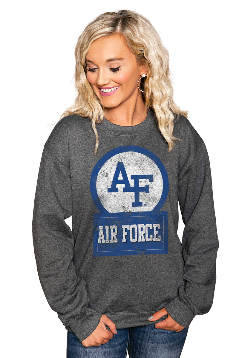 "AIR FORCE FALCONS ""GOOD VIBES"" Perfect Crew Sweatshirt - Gameday Couture"
