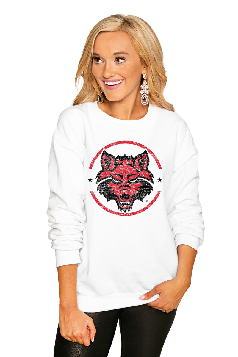 "Arkansas State Red Wolves ""End Zone"" Perfect Cozy Crew Sweatshirt - Shop The Soho"