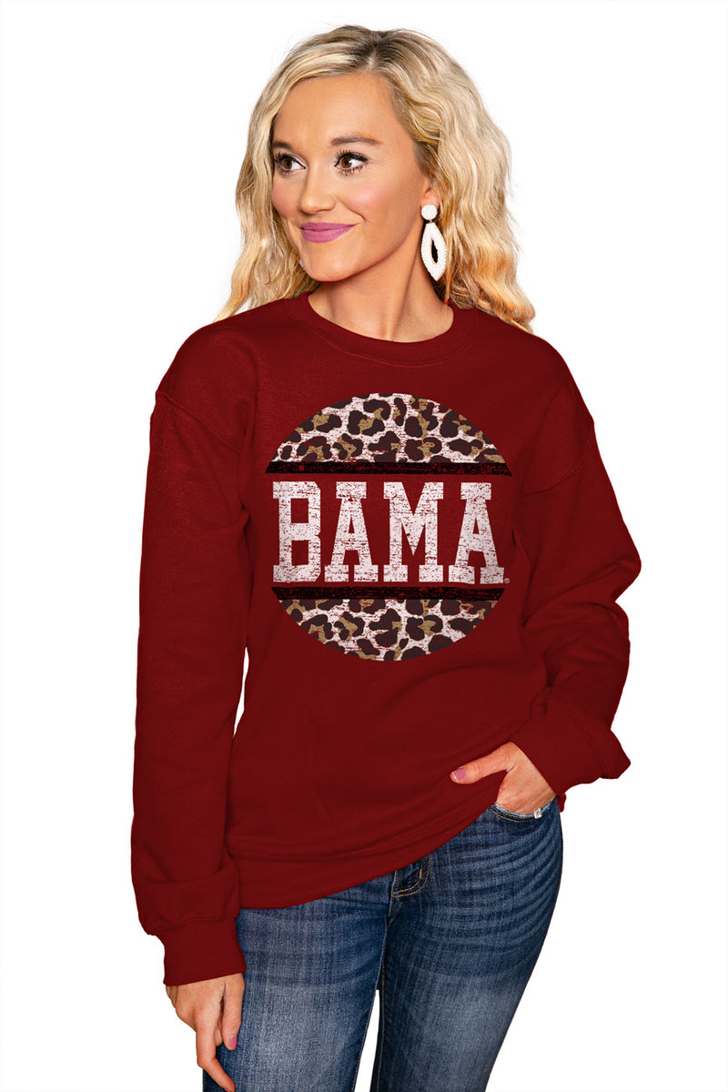 "ALABAMA CRIMSON TIDE ""SCOOP & SCORE"" Perfect Crew Sweatshirt - Gameday Couture"