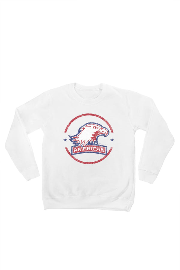 "AMERICAN UNIVERSITY EAGLES  ""END ZONE"" YOUTH PERFECT CREW SWEATSHIRT"